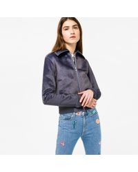 Paul Smith | Gray Women's Mottled Grey Faux-fur Jacket | Lyst