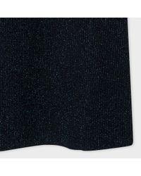 Paul Smith - Blue Women's Glittered Navy Wool-blend Knitted Dress - Lyst
