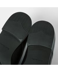 PS by Paul Smith - Black 'moore' Plain Toe Derby for Men - Lyst