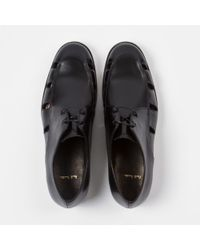 Paul Smith - Women's Black Leather 'rowan' Shoes With Cut-out Detail - Lyst
