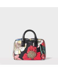Paul Smith | Multicolor Women's 'wild Garden' Print Leather Mini Bowling Bag | Lyst
