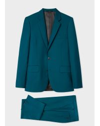 Paul Smith - Blue The Soho - Tailored-Fit Petrol Wool-Mohair 'A Suit To Travel In' for Men - Lyst