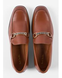 Paul Smith Brown Tan Leather 'Grover' Loafers for men