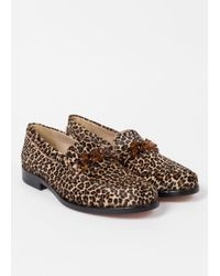 Paul Smith - Brown Women's Leopard Print Calf Hair 'cora' Loafers - Lyst