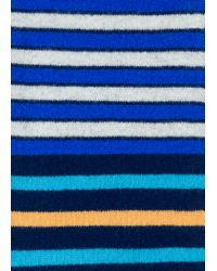 Paul Smith - Blue Écharpe Homme Bleu Marine À Rayures Multicolores En Laine for Men - Lyst