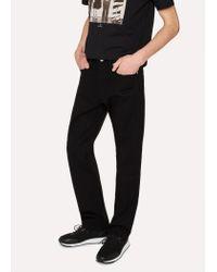 Paul Smith - Standard-Fit 12oz 'Super Black' Stretch-Denim Zip Fly Jeans for Men - Lyst