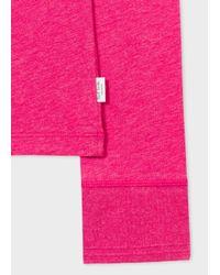 Paul Smith - Pink Men's Raspberry Long-sleeve Crew Neck Vest for Men - Lyst