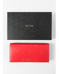Paul Smith - Red 'Doodle' Leather Tri-Fold Purse - Lyst