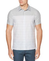 Perry Ellis - Blue Short Sleeve Two Toned Striped Shirt for Men - Lyst