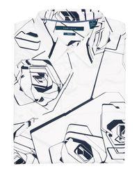 Perry Ellis - White Big & Tall Short Sleeve Rose Shirt for Men - Lyst