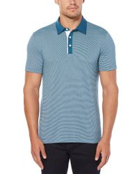 Perry Ellis - Blue Short Sleeve Thin Line Polo for Men - Lyst