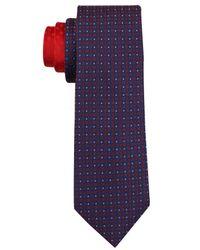 Perry Ellis - Red Fenton Silk Geo Tie for Men - Lyst