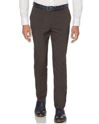 Perry Ellis - Gray Slim Tonal Plaid Pant for Men - Lyst