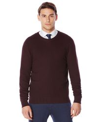 Perry Ellis   Multicolor Textured Crew Neck Sweater for Men   Lyst