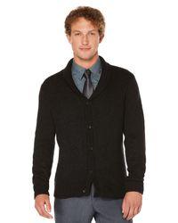 Perry Ellis   Black 5 Button Shawl Collar Cardigan for Men   Lyst