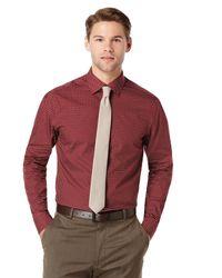 Perry Ellis - Red Very Slim Printed Geo Dress Shirt for Men - Lyst