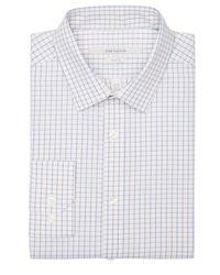 Perry Ellis - White Slim Fit Diamond Check Dress Shirt for Men - Lyst
