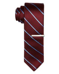 Perry Ellis - Red Onslow Stripe Tie for Men - Lyst