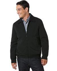 Perry Ellis | Black Microfiber Golf Jacket for Men | Lyst
