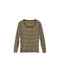 Petit Bateau | White Women's Sailor-striped Cotton Sweatshirt | Lyst