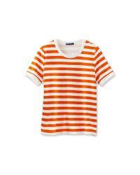Petit Bateau   Red Women's Striped Shirt   Lyst