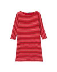 Petit Bateau | Red Women's Jersey Dress | Lyst