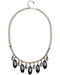 Phase Eight - Black Droplet Necklace - Lyst