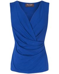 Phase Eight - Multicolor Christina Sleeveless Fixed Wrap Top - Lyst