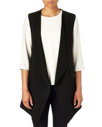 Phase Eight - Black Amal Tux Waistcoat - Lyst