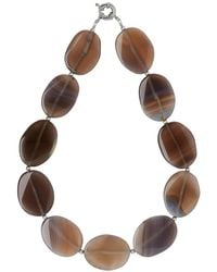 Phase Eight | Gray Lila Stone Necklace | Lyst