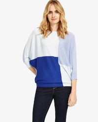 Phase Eight - Blue Becca Colour Block Batwing Jumper - Lyst