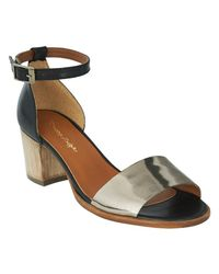 Phase Eight | Natural Talia Leather Block Heel Sandals | Lyst