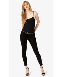 Phase Eight - Black Mika Belted 7/8 Jeans - Lyst