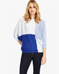 Phase Eight - Blue Colourblock Becca Batwing - Lyst