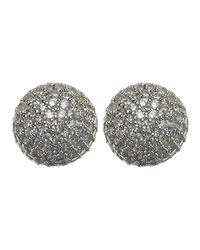 Phase Eight - Metallic Tara Cubic Zirconia Stud Earrings - Lyst