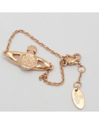 Vivienne Westwood - Metallic Mini Bas Relief Pendent Rose Gold - Lyst