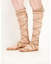 9ce8386725e3 Pixie Market. Women s Brown Matisse Natural Suede Atlas Gladiator Sandals