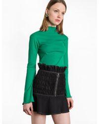 Pixie Market | Green Bell Sleeve Top | Lyst
