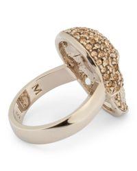 Philipp Plein - Metallic Embellished Skull Ring - Lyst