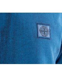 Stone Island - Blue Corrosion Crew Neck Sweatshirt Turquoise for Men - Lyst