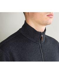 Ralph Lauren - Blue Full Zip Funnel Collar Knitted Fleece Navy Heath for Men - Lyst