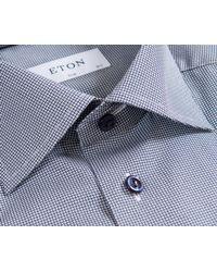 Eton of Sweden - Blue Slim Fit Circle & Spot Shirt Navy/white for Men - Lyst
