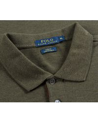 Ralph Lauren - Green Slim Fit Stretch Mesh Long Sleeve Polo Alpine Heather for Men - Lyst