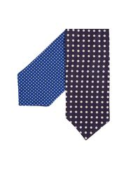 Paul Smith - Reversible Polka Dot Cravat Blue for Men - Lyst