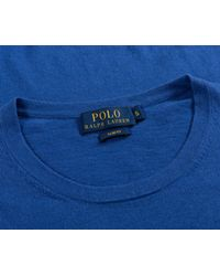 Ralph Lauren - Slim Fit Cashmere Cotton Blend Crew Neck Knit Blue Legacy for Men - Lyst