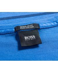 BOSS - 'tiburt 05' Striped T-shirt Electric Blue for Men - Lyst