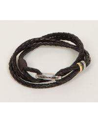 Paul Smith - Multicolor Woven Leather Bracelet Chocolate for Men - Lyst