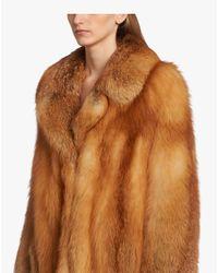 Prada Brown Fox Fur Coat
