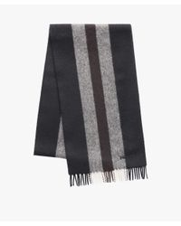 Prada - Black Striped Cashmere Scarf for Men - Lyst