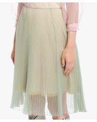 Prada - Green Pleated Skirt - Lyst